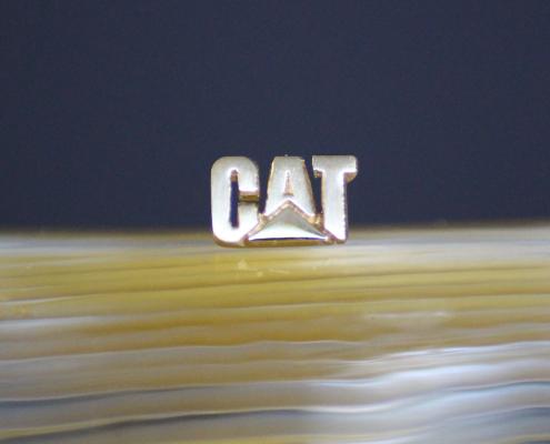 Stick-Pin CAT 750 Weissgold