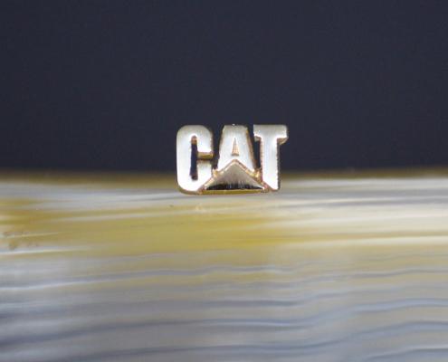 Stick-Pin CAT Weissgold rhuteniert