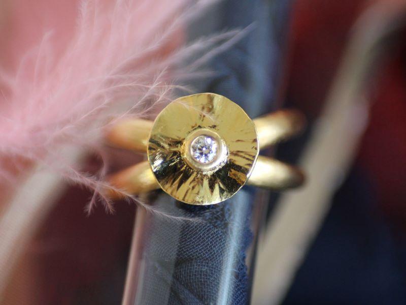 Ring FEE Unikat Gold Brillant