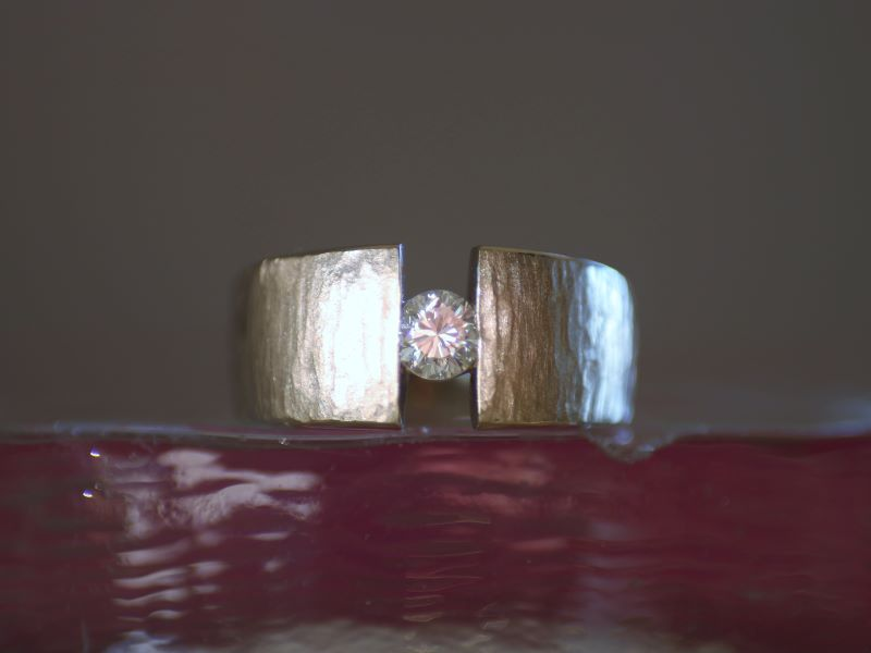 Ring MYWAY GS Unikat Weißgold Brillant 0,5ct solitaire