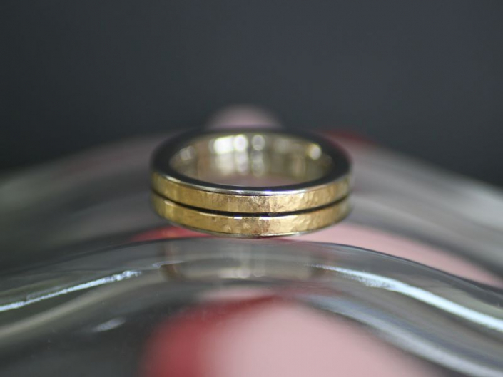 Ring MYWAY Unikat Weissgold Gelbgold Tantal